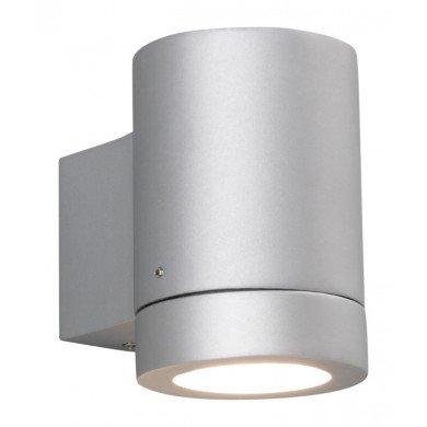 Astro Lighting - Porto Plus Single 1082003 (623) - IP44 Matt Painted Silver Wall Light