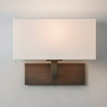 Astro Lighting - Park Lane 1080044 (8213) - Bronze Wall Light with White Shade Included