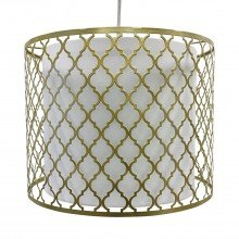 Gold Cut Out with White Diffuser Light Shade