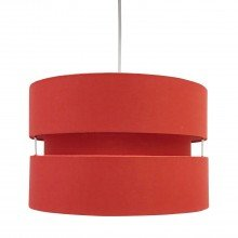 Red Layered Easy Fit Drum Light Shade