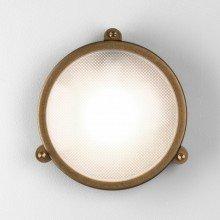 Astro Lighting - Malibu Round 1387001 (7969) - IP65 Antique Brass Wall Light