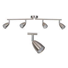 Brushed Chrome with Chrome Detail 4 Way Spotlight Bar