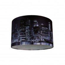 Digitally Printed Shade with New York City Skyline 320mm Diameter