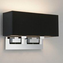 Astro Lighting - Park Lane Twin 1080019 (7062) & 5001015 (4109) - Polished Chrome Wall Light with Black Shade Included