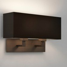 Astro Lighting - Park Lane Twin 1080048 & 5001015 - Bronze Wall Light with Black Shade Included