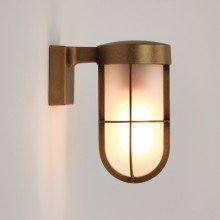 Astro Lighting - Cabin Wall Frosted 1368008 (7850) - IP44 Antique Brass Wall Light