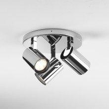 Astro Lighting - Aqua Triple Round 1393005 (6156) - IP44 Polished Chrome Spotlight