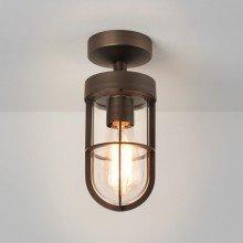 Astro Lighting - Cabin Semi Flush 1368009 (7851) - IP44 Bronze Ceiling Light