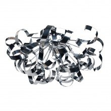 Chrome Swirl Ribbon Dome Ceiling Fitting